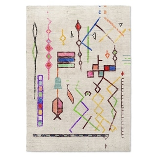 Kavka Designs Lilly Blue/ Red/ Pink/ Yellow Accent Rug (2' X 3') - 2' x 3'