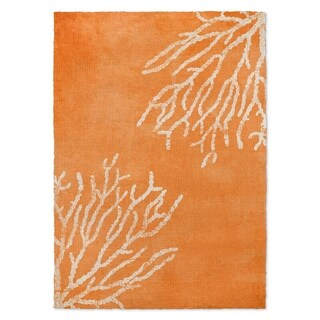 Kavka Designs Sultana Orange/ White Accent Rug (2' X 3') - 2' x 3'