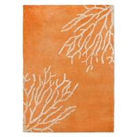 Kavka Designs Sultana Orange/ White Accent Rug (2' X 3') - 2' x 3'