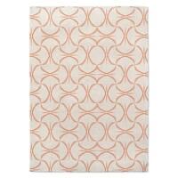 Kavka Designs Tangerine Twist White/ Tangerine Accent Rug (2' X 3') - 2' x 3'
