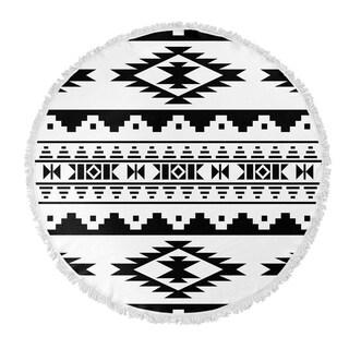 "Kavka Designs Cherokee Black 60""X60"" Round Beach Towel"