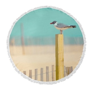 Laura Ashley Seaside Stripe Cotton Beach Towel Free