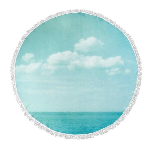 "Kavka Designs Sea Of Blue 60""X60"" Round Beach Towel"