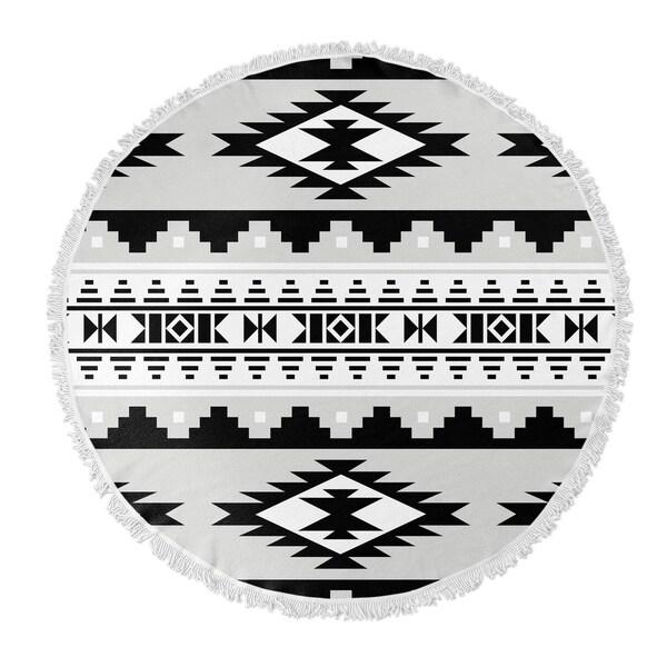 "Kavka Designs Cherokee Grey 60""X60"" Round Beach Towel"