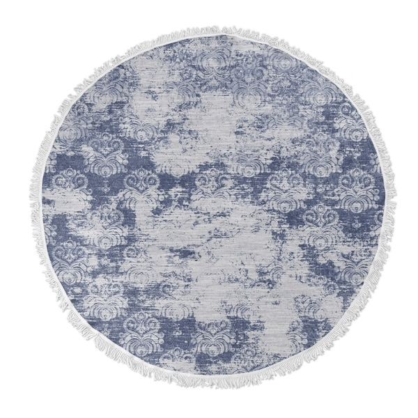 "Kavka Designs Milano Blue 60""X60"" Round Beach Towel"