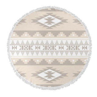 "Kavka Designs Cherokee Tan 60""X60"" Round Beach Towel"