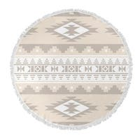 "Kavka Designs Cherokee Tan 60""X60"" Round Beach Towel"