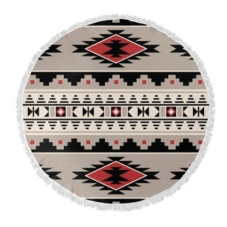 "Kavka Designs Cherokee Red 60""X60"" Round Beach Towel"