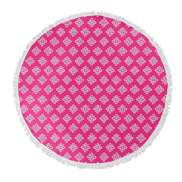 "Kavka Designs Boom boom Pink 60""X60"" Round Beach Towel"