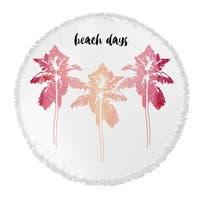 "Kavka Designs Beach Days Pink/ Blush/ White 60""X60"" Round Beach Towel"