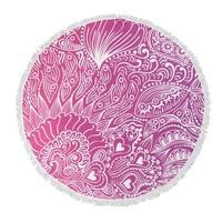 """Kavka Designs Ocean Current Purple/ Pink 60""""X60"""" Round Beach Towel"""