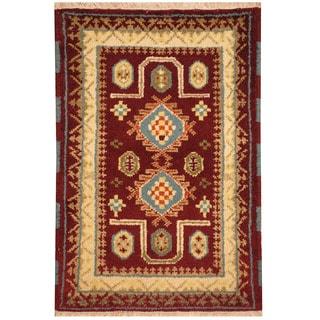 Herat Oriental Indo Hand-knotted Tribal Kazak Wool Rug (2' x 3')