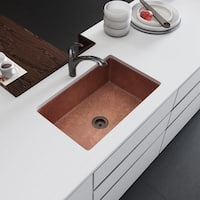 R4-1003-ST-C Single Bowl Copper Kitchen Sink with Strainer