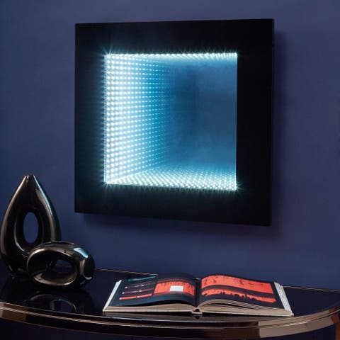 Inaara Infinity LED Wall Mirror Accent Light by iNSPIRE Q Bold - Black