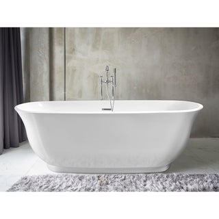 Pacific Collection Imperial White Acrylic Oval Soaking Bathtub