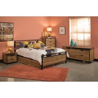 Quinton 6pc Queen Bedroom Set in Salvage Oak Finish