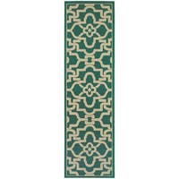 Style Haven Intricate Lattice Indoor/Outdoor Runner Rug - 2'3 x 7'6