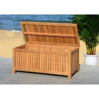 Safavieh Outdoor Abri 47.63-Inch Teak Cushion Storage Box