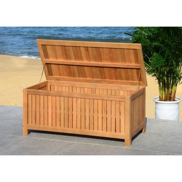 Exceptionnel Safavieh Outdoor Abri 47.63 Inch Cushion Storage Box