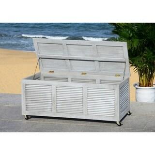 Safavieh Outdoor Elina 47.2-Inch Grey Wash Cushion Storage Box