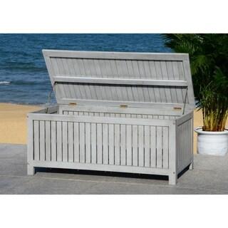 Safavieh Outdoor Abri 47.63-Inch Grey Wash Cushion Storage Box