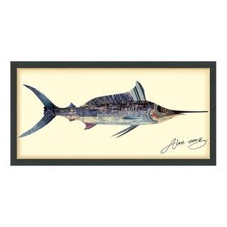 Blue Marlin Dimensional Art Collage