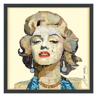 Empire Art 'Homage to Marilyn' Hand Made Signed Art Collage by EAD Artists Co-op under Tempered Glass in Black Frame
