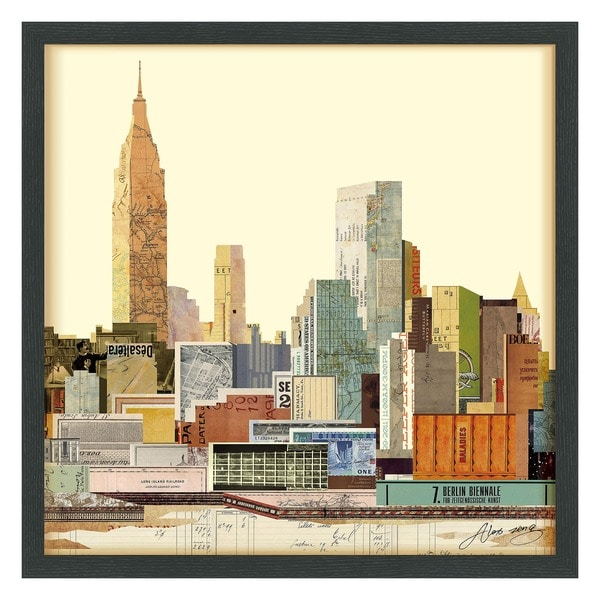 Shop Empire Art \'New York City Skyline\' Hand Made Signed Art Collage ...