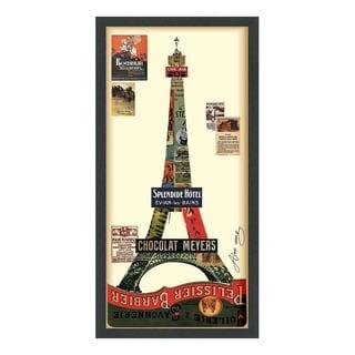 Eiffel Tower Dimensional Art Collage