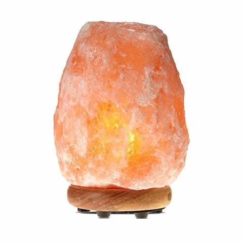 Himalayan Glow Salt Lamp With Wooden Base 5-7 lbs