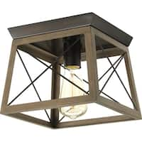 Briarwood Collection 1-Light Antique Bronze Flushmount