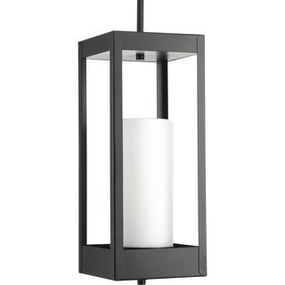 Patewood Collection Black Stainless Steel 1-light Pendant