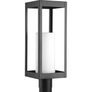 Patewood Collection Black Stainless Steel Outdoor Post Light