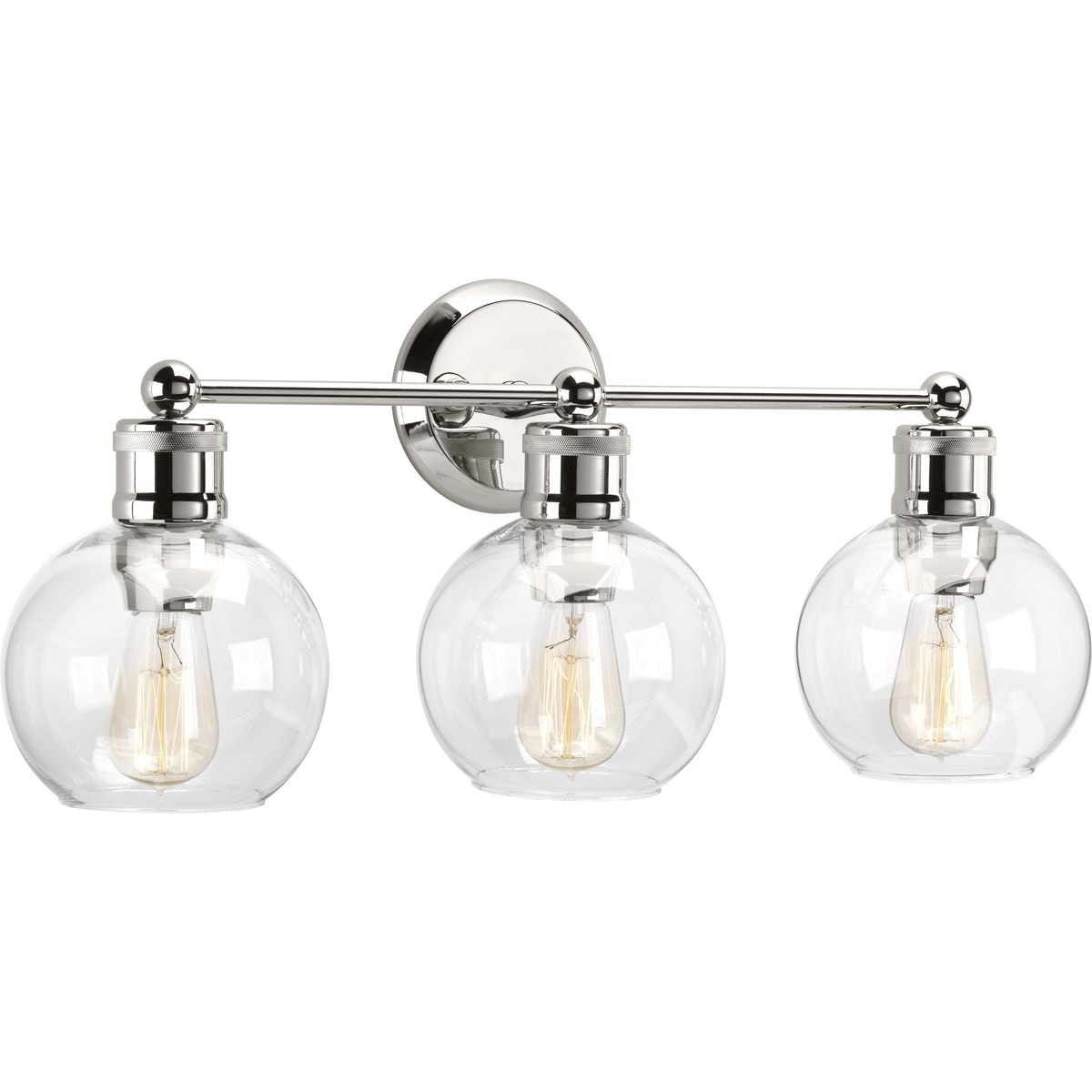 Carbon Loft Guillotin 3 Light Polished Nickel Bath N A