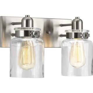 Calhoun Collection 2-Light Brushed Nickel Bath Light