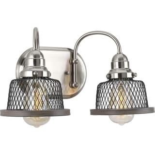 Tilley Collection Brushed Nickel Metal 2-Light Bath Fixture