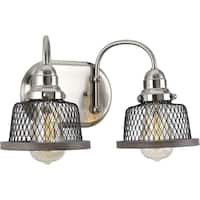 Tilley Collection 2-Light Brushed Nickel Bath Light