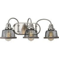 Tilley Collection 3-Light Brushed Nickel Bath Light
