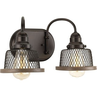 Tilley Collection Antique Bronze Metal 2-light Bath Light