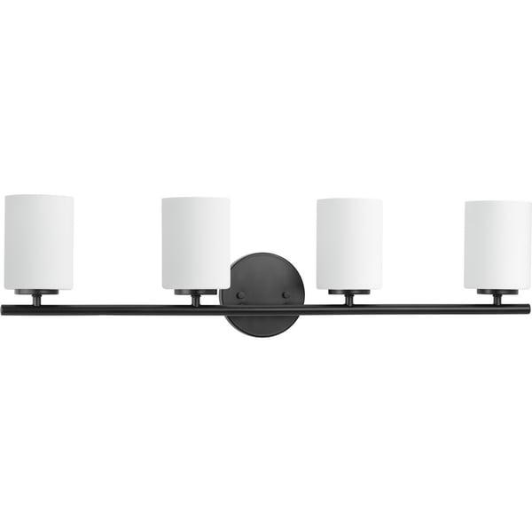 Replay Collection 4-Light Black Bath Light
