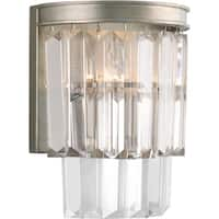 Glimmer Collection 2-Light Silver Ridge Sconce