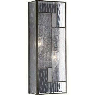 Geometric Collection Architectural Bronze Aluminum/Glass 2-light Wall Lantern