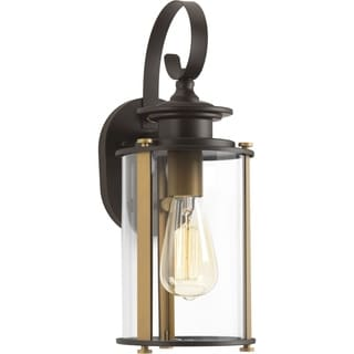 Squire Collection 1-Light Antique Bronze Wall Lantern