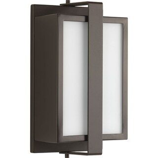 Diverge Collection 1-Light Architectural Bronze Wall Lantern