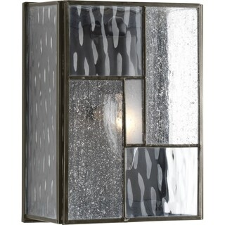 Geometric Collection 1-Light Architectural Bronze Wall Lantern