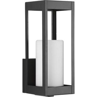 Patewood Collection 1-Light Black Wall Lantern