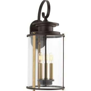 Squire Collection Antique Bronze 3-light Wall Lantern