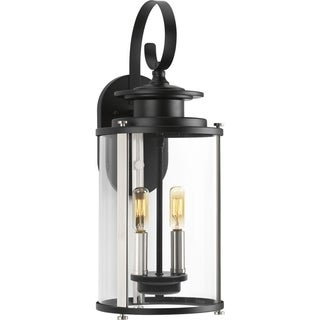 Squire Collection Black Steel 2-light Wall Lantern