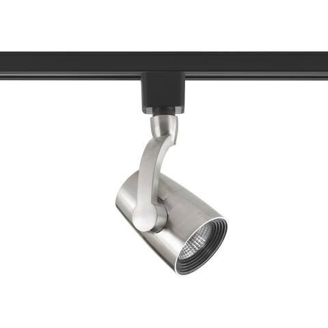 LED Track Collection 1-Light Brushed Nickel Track Lighting Head