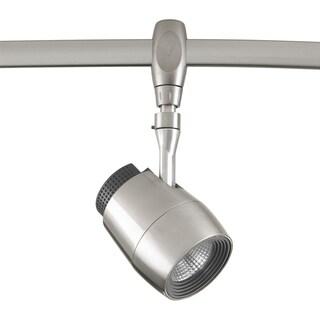 LED Flex Track Collection 1-Light Brushed Nickel Track Lighting Head